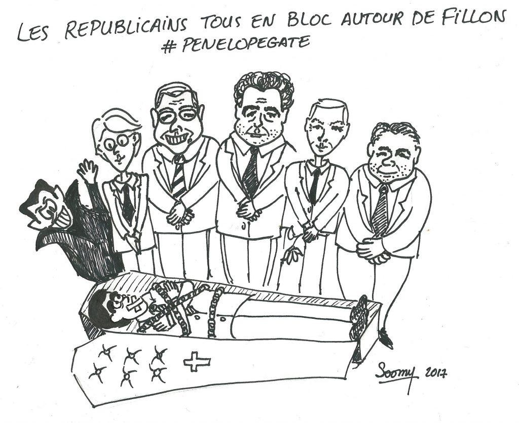 Les Républicains en bloc autour de Fillon