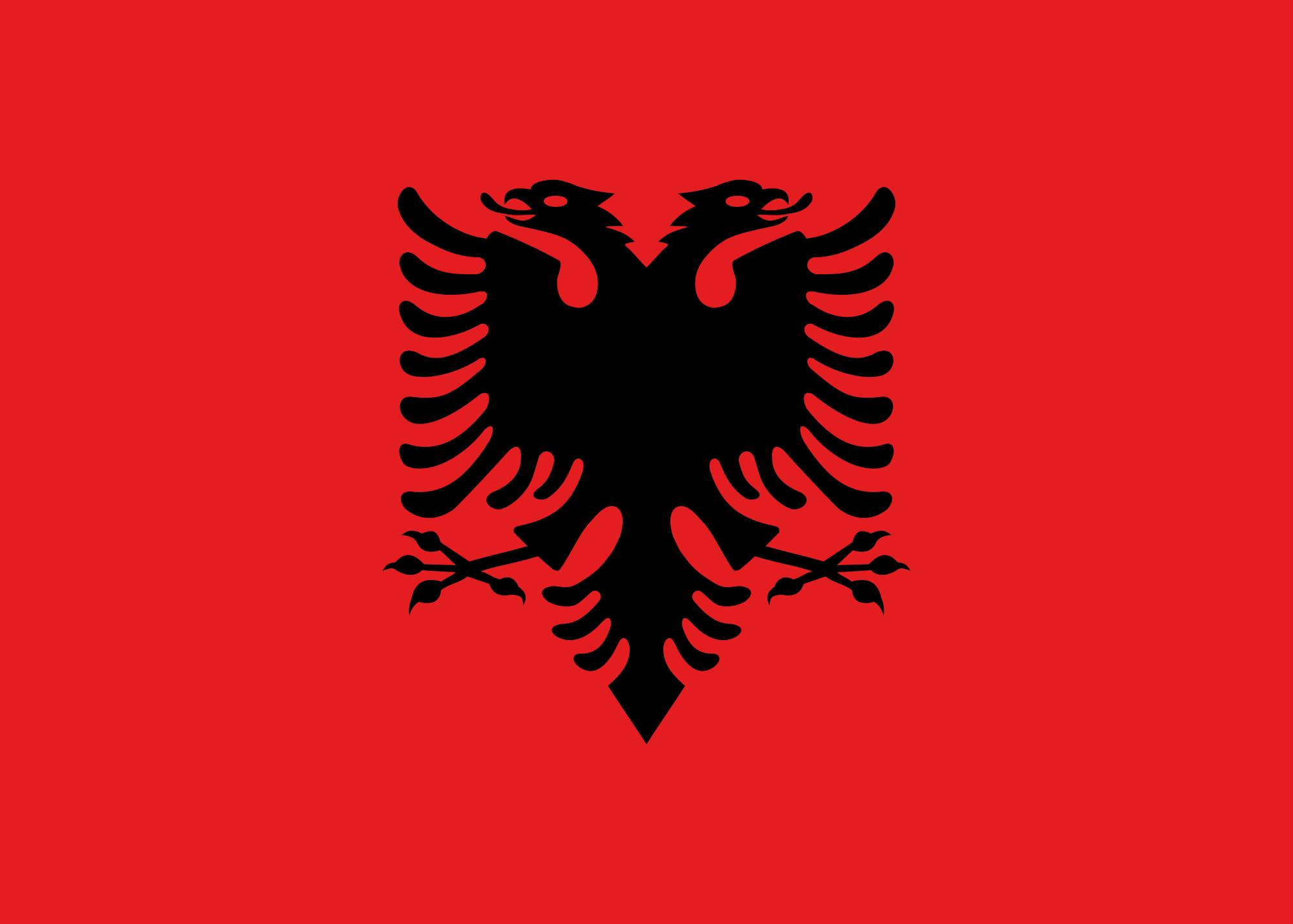 Drapeau de l' Albanie